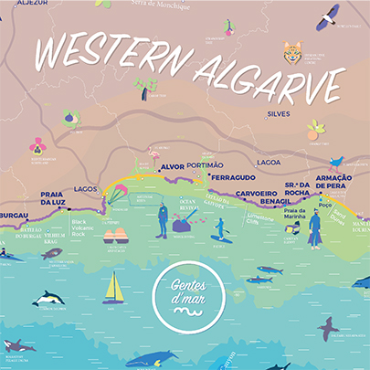 Map Itineraries of the Western Algarve cópia